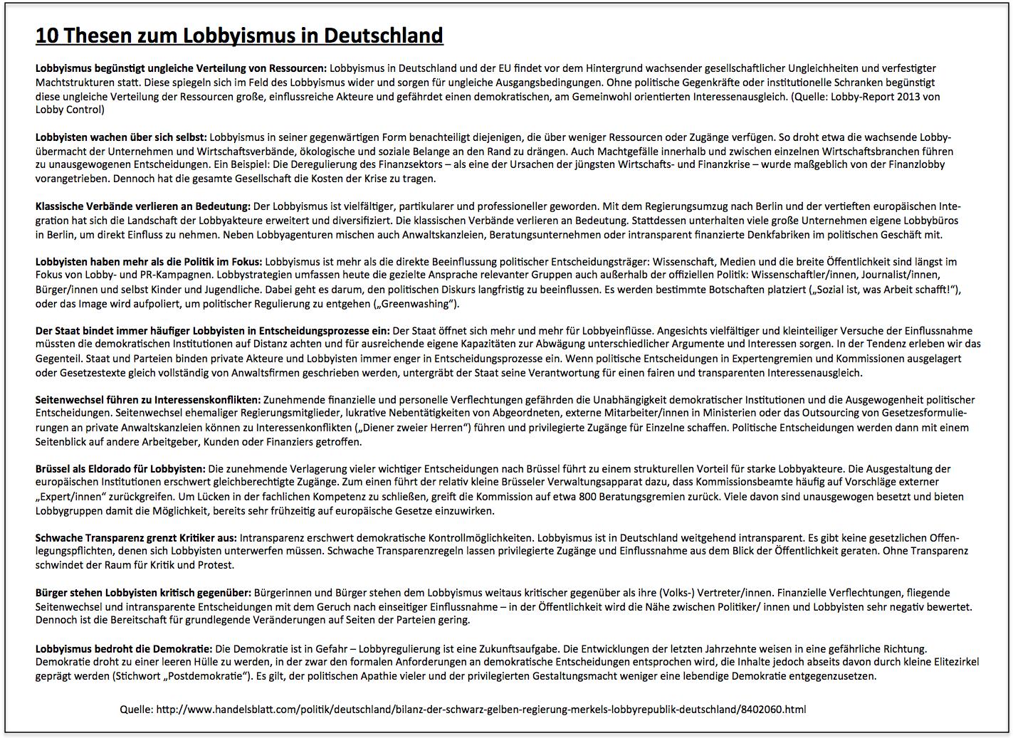 10 thesen zum lobbyismus in deutschland klick auf bild. Black Bedroom Furniture Sets. Home Design Ideas